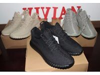Brnad New Adidas Yeezy 350 Boost Black Trainers with Box3-12