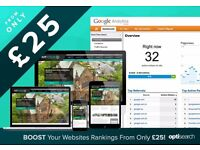 SEO - Boost Your Websites Search Rankings From only £25 - Search Engine Optimisation