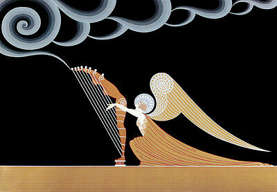 The Angel  by Erte  Paper  Print Repro