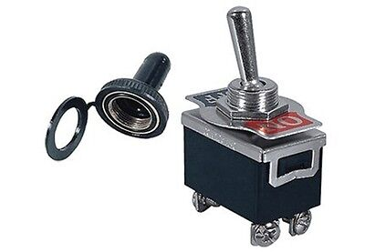 1 Pc Dpst Safety Toggle Switch 20amp125vac Soft Rubber Cover 66-180466-5001
