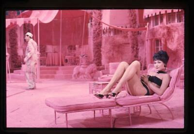 Shirley MacLaine in sexy bikini rare photographer stamped Original Transparency