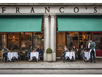 Head Waiter – Waitress at Franco's on Jermyn Street