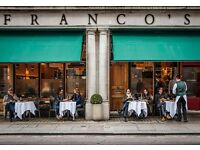 Professional Part Time Receptionist for Franco's on Jermyn Street