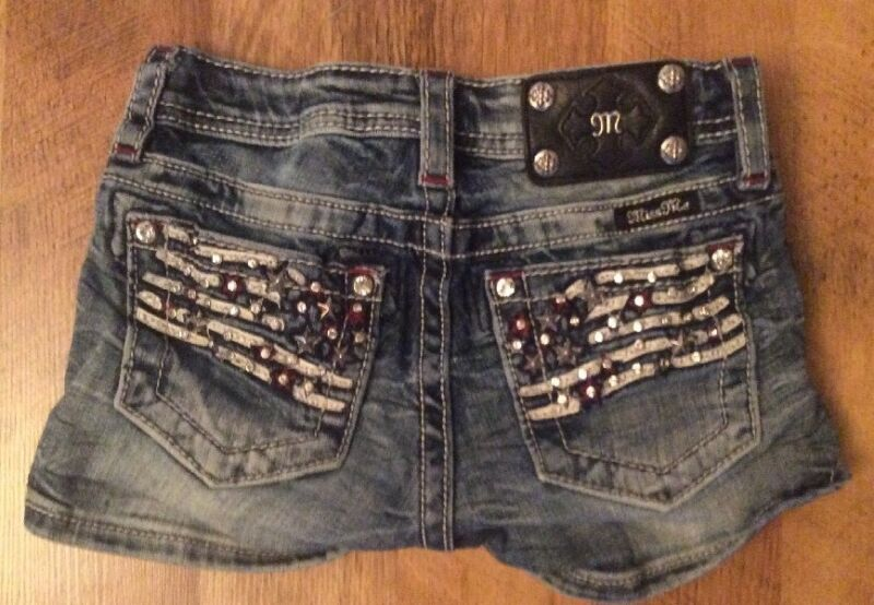 CUTE MISS ME BLING FLAG Shorts Kids Size 10
