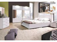 VERCELLI - 5 piece bedroom furniture set with a king size bed. Delivery available