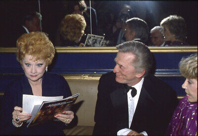 Lucille Ball Kirk Douglas rare Vintage Candid Original 35mm Transparency Slide