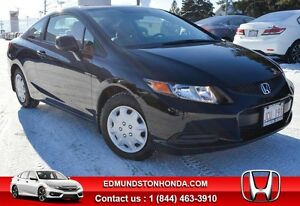 2012 Honda Civic LX Bluetooth, 5yrs/120 000km Warranty !!