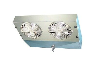 Thin Profile Etl Reach-in Cooler Evaporator 2 Fans Blower 1300 Btu 220cfm 115v