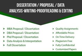 Dissertation/Thesis/Proposal/Coursework/Assignment/SPSS/MBA/DBA/HND/ Writing,Editing Proofrading