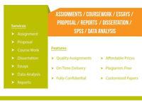 WRITING/EDITING - ESSAY/DISSERTATION/ASSIGNMENTS/PROPOSALS/REPORTS/SPSS/IT/STATISTICS - URGENT HELP
