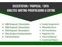 Dissertation/Thesis/Proposal/Coursework/Assignment/SPSS/MBA/DBA/PHD/ Writing,Editing Proofrading