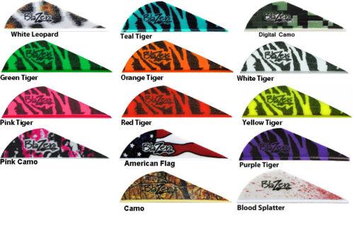 "Tiger 50 pk Bohning Blazer Tiger Vane 2"" Arrow Fletching Mix & Match 14 Colors"