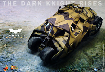 HOT TOYS MMS 184 THE DARK KNIGHT RISES BATMOBILE CAMO VER REHSHIPPER SEALED NRFB