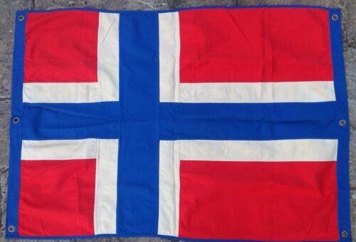 Norway Nautical Flag FULLY SEWN Vintage Style 140cm x 100cm With 6 Eyelets