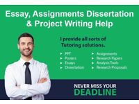 Assignment/ Dissertation / Essay/ PhD Thesis Writing/ SPSS Tutor / Coursework Help/ Proposal Writer