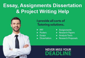Assignment Writer/Dissertation/Essay/Nursing/Programming/Business/Engineering/HND/Proofreading Help