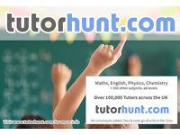 Tutor Hunt Surbiton - UK's Largest Tuition Site- Maths,English,Science,Physics,Chemistry,Biology