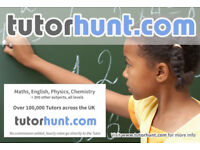 Tutor Hunt Sale - UK's Largest Tuition Site- Maths,English,Science,Physics,Chemistry,Biology