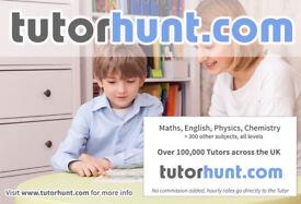 Tutor Hunt Hampton - UK's Largest Tuition Site- Maths,English,Science,Physics,Chemistry,Biology