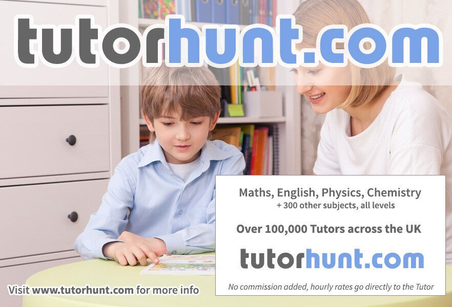 Tutor Hunt Crouch Hill - UK's Largest Tuition Site- Maths,English,Science,Physics,Chemistry,Biology