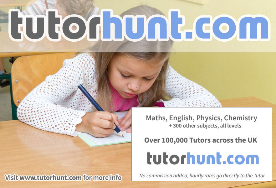 Tutor Hunt Baildon - UK's Largest Tuition Site- Maths,English,Science,Physics,Chemistry,Biology