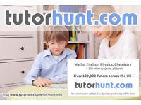 Tutor Hunt - UK's Largest Tuition Website - Maths, English, Physics, Chemistry, Biology Tuition