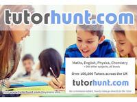 Tutor Hunt Nuneaton - UK's Largest Tuition Site- Maths,English,Science,Physics,Chemistry,Biology
