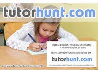 Tutor Hunt Bebington- UK's Largest Tuition Site- Maths,English,Science,Physics,Chemistry,Biology