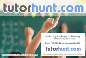 Tutor Hunt Tolworth - UK's Largest Tuition Site- Maths,English,Science,Physics,Chemistry,Biology