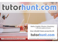 Tutor Hunt Sudbury - UK's Largest Tuition Site- Maths,English,Science,Physics,Chemistry,Biology