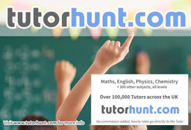 Tutor Hunt New Malden - UK's Largest Tuition Site- Maths,English,Science,Physics,Chemistry,Biology