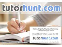 Tutor Hunt Ickenham - UK's Largest Tuition Site- Maths,English,Science,Physics,Chemistry,Biology