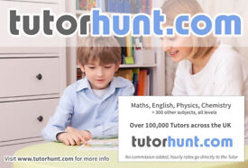 Tutor Hunt Plumstead - UK's Largest Tuition Site- Maths,English,Science,Physics,Chemistry,Biology