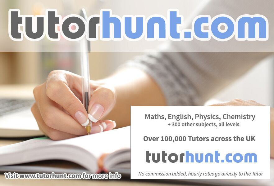 Tutor Hunt Harpenden - UK's Largest Tuition Site- Maths,English,Science,Physics,Chemistry,Biology