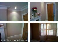 M. Johnson. Professional Painter & decorator. Full interior, Exterior Specialist