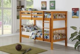 🔰🔰SAME DAY FAST DELIVERY🔰🔰 BRAND NEW White Wooden Bunk Bed Bunkbed with Mattress Range