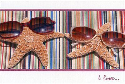 Pictura Starfish Couple with Sunglasses Valentine's Day (Valentine's Day Sunglasses)