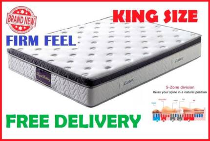 KING Size LUXURY Latex Top POCKET SPRING Mattress DELIVERED FREE