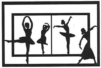 Unmounted Rubber Stamps, Dance Silhouettes Window, Ballet, Jazz, Dancing, Dancer