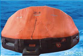 Liferaft ZHR-D25 25 person capacity.