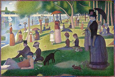 Sunday Afternoon on the Island of la Grande Jatte Georges Seurat Vintage Print