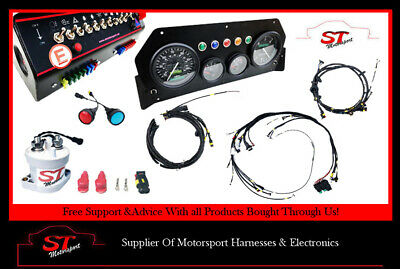 Escort Mk2 Motorsport Rally Complete Wiring Loom Harness & Racetech Gauges