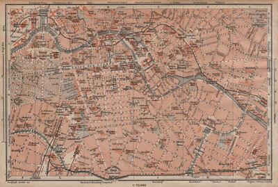 BERLIN CITY CENTRE town stadtplan Public buildings Öffentliche Gebäude 1904 map