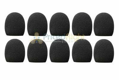 Black Foam Windscreen - 10 Pack Black Handheld Stage Microphone Windscreen Foam Mic Cover Karaoke DJ