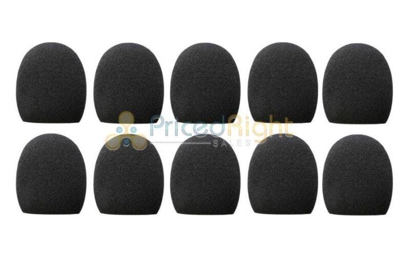 10 Pack Black Handheld Stage Microphone Windscreen Foam Mic Cover Karaoke DJ