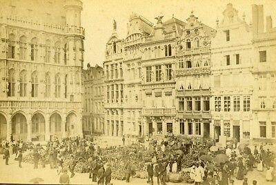 Belgium Brussels Corporate Houses Grand-Place Old LP Photo 1880 Brussels Grand Places House
