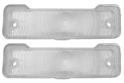 1966 1967 Nova Chevy II Parking Light Lens Clear with Gaskets Pair