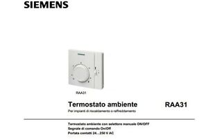 Siemens termostato ambiente con selettore manuale on off for Termostato digital siemens rdh10