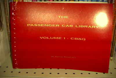 WAREHOUSE SALE PASSENGER CAR LIBRARY BUDD VOL.1 CB&Q SPIRAL BD RANDAL
