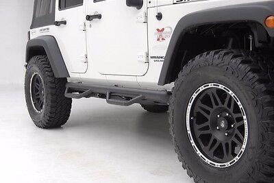 Heavy Duty Rocker Guards - Smittybilt Wheel To Wheel Nerf Bars w/ Step 2007-2017 4dr Jeep Wrangler JK J0764